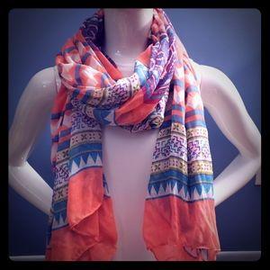 Express Aztec print scarf